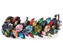 Gunmetal-tone crystal bracelet
