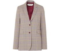 Sophie Checked Wool-blend Blazer Neutral