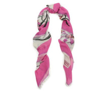 Printed Cashmere And Silk-blend Scarf Off-white Size --