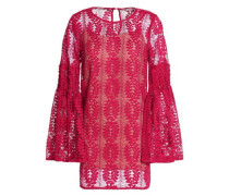 Flared corded lace blouse
