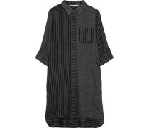 Checked Flannel Nightshirt Black