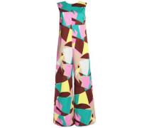 Printed stretch-cotton jumpsuit