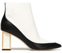 Cainta two-tone leather ankle boots