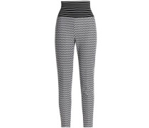 Crochet-knit leggings