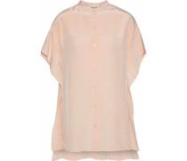 Silk-charmeuse Blouse Pastel Pink