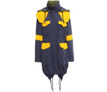 Color-block Shell Hooded Jacket Navy