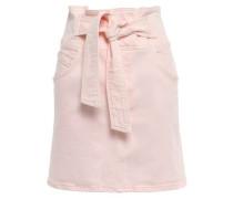 Callie Belted Denim Mini Skirt Pastel Pink