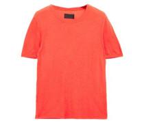 Woman Cotton And Cashmere-blend Jersey T-shirt Papaya