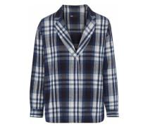Moxy Checked Cotton-flannel Blazer Navy
