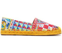 Printed leather espadrilles