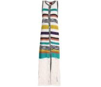 Striped crochet-knit vest