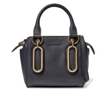 Paige mini textured-leather shoulder bag