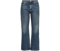 Faded High-rise Bootcut Jeans Mid Denim  4