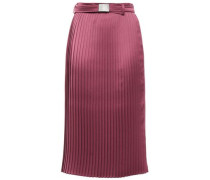 Pleated Satin Skirt Grape