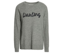 Intarsia Wool And Cashmere-blend Sweater Gray
