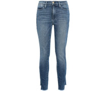 Oakley Frayed High-rise Skinny Jeans Mid Denim  3