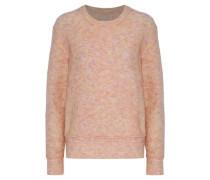 Balancia Marled Stretch-knit Sweater Peach