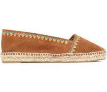 Kira embroidered suede espadrilles