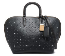 Studded leather tote
