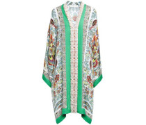 Lace-trimmed Silk-blend Kaftan Off-white
