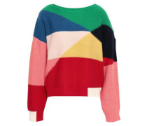 Megu Color-block Wool And Cashmere-blend Sweater Multicolor