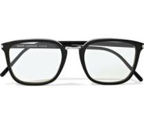 Square-frame Tortoiseshell Acetate Optical Glasses Black Size --