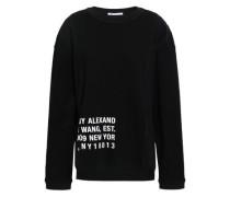 Printed Cotton-blend Jersey Sweatshirt Black