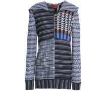 Paneled wool-blend hoodie