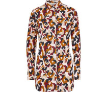 Printed Cotton-poplin Shirt Multicolor