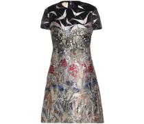 Metallic Jacquard Mini Dress Multicolor