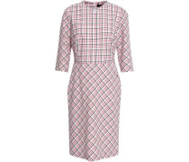 Checked Wool-blend Dress Ivory