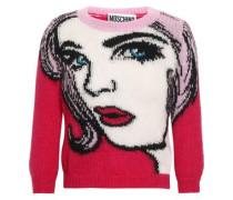Intarsia Mohair-blend Sweater Pink