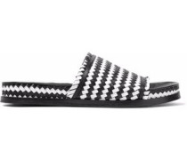 Aoven woven leather slides
