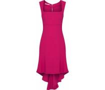 Asymmetric Cady Mini Dress Fuchsia