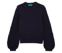 Ribbed Cotton Sweater Navy