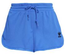 Ribbed-knit Jersey Shorts Blue