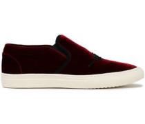 Sequin-embellished velvet sneakers
