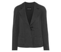 Herringbone Wool Blazer Charcoal