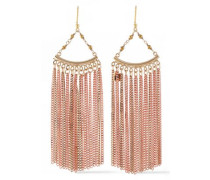 Fringed Gold And Rose Gold-tone Bead Earrings Rose Gold Size --