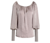 Working Title gathered hammered-satin top
