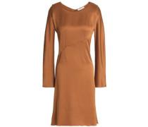 Satin-crepe dress