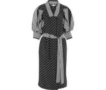 Valeria ruffled printed silk dress