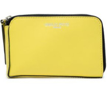 Leather Wallet Pastel Yellow Size --