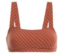The Madison Basketweave Bikini Top Light Brown