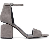 Abby Suede Sandals Gray