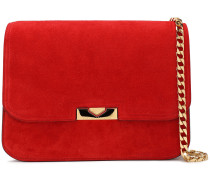 Woman Suede Shoulder Bag Tomato Red