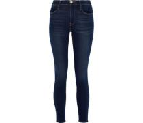 Le High Cropped Mid-rise Skinny Jeans Dark Denim  3