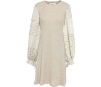 Broderie Anglaise Cotton-jersey Dress Sand
