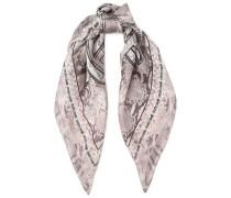 Snake-print silk scarf