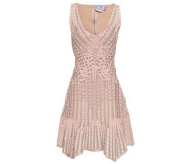 Embellished Jacquard-knit Bandage Dress Blush